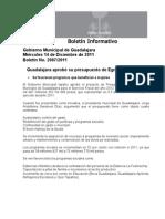 14-12-2011 Guadalajara aprobó su presupuesto de Egresos para 2012