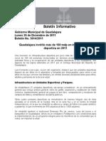 26-12-2011 Guadalajara invirtió más de 100 mdp en infraestructura