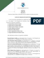 Lista de Candidatos Admitidos para Licenciamento de Guardas-Nocturnos em Machico