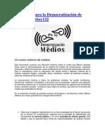Propuesta para la Democratización de Medios