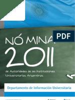 Listado de Autoridades Universitarias 2011