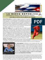 LNR 57 (Revista La Nueva Republica) Cuba CID 7 Noviembre 2012