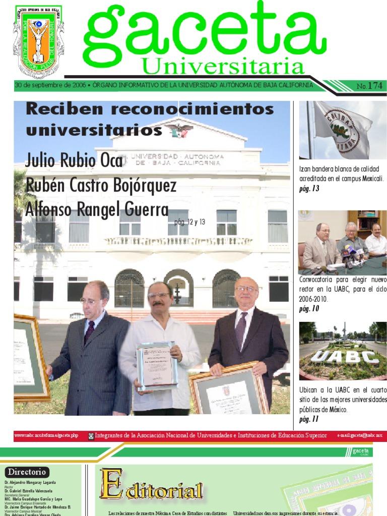 Gaceta 174 30 De Spetiembre 2006
