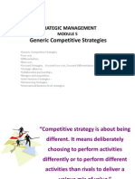 Module 5 - Generic Competitive Strategies