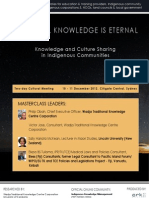 Knowledge and Culture Sharing in Indigenous Communities