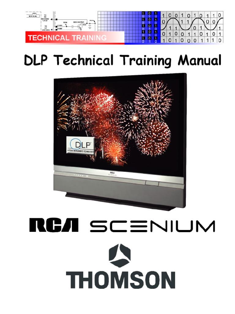 thomson rca scenium dlp technikal training manual digital rh scribd com RCA Scenium Parts RCA Scenium HDTV