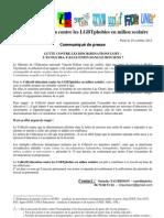 Communiqué du Collectif éducation contre les LGBTphobies en milieu scolaire