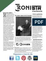 El Cronista de Juan Pérez Arriete. Número 1.