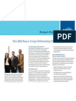 IRD - Peace Corps Fellowship Fact Sheet
