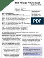 Quidhampton Village Newletter September 2012