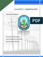 DISEÑO DE POSTE Y CIMENTACIÓN