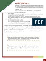 FAFSA Help Step 5- Dependent Status