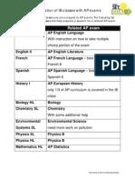 AP IB Exam Match