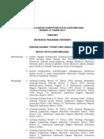 PERDA NO 19 TH 2011 Retribusi Perizinan Tertentu
