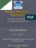 Acidosis Metabólica y Respiratoria