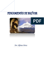 PENSAMIENTOS DE BOLÍVAR