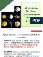 Procedimiento para problemas de MRUA para 4ºESO