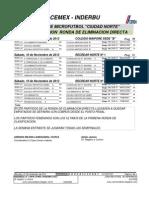 Programacion Ronda de Eliminacion Directa y Aplazados