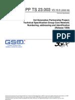 3GPP Numbering&Addressing