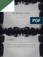 Forensics presentation