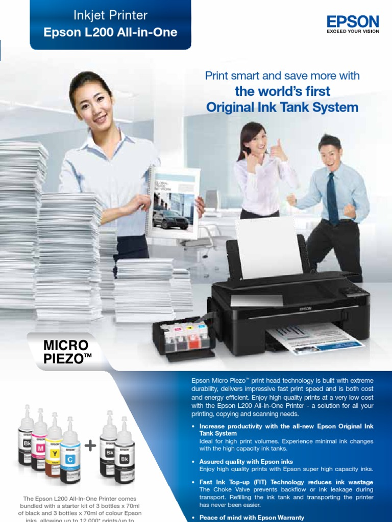 EPSON L200 Brochure | Printer (Computing) | Image Scanner
