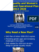 Gender Equality and Women's Empowerment Operational Plan 2013-2020