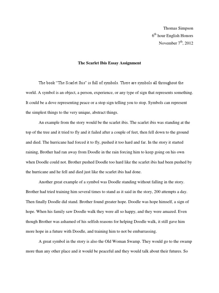The scarlet ibis essay the scarlet ibis summary setting themes the scarlet ibis essay the scarlet ibis summary setting themes video lesson scarlet ibis symbolism essay the scarlet ibis by james hurst plot diagram let s biocorpaavc