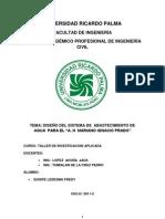 Abastecimiento de Agua Para El a.H Mariano Ignacio Prado