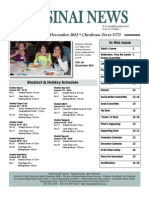 Congregation Sinai Milwaukee Newsletter--November/December 2012