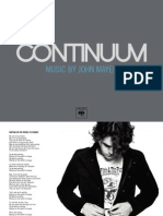 John Mayer - Continuum Special Edition Booklet
