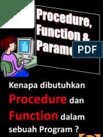 Materi 7 Procedure, Function & Parameter