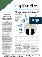 The Daily Tar Heel for November 8, 2012