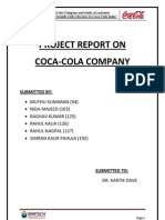 Final Report on Coca-cola