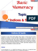 Basic Numeracy Indices and Surds