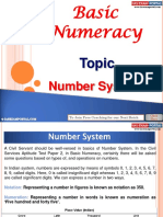 Basic Numeracy Number System