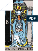 Rider Waite tarot High Priestess, the Zodiac sign of Virgo