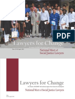 Lawyers for Change - National Meet of Social Justice Lawyers - April 2012 - Final Report
