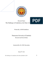 Academic Research-Challenges of Cambodia as Chair of Asean 2012