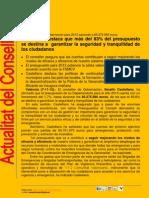 Actualitat Conselleria Governació 07-11-2012
