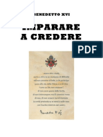 Benedetto XVI Imparare a Credere