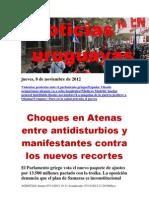 Noticias Uruguayas Jueves 8 de Noviembre Del 2012