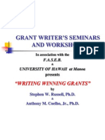 Grant Writer's Seminars and Workshops