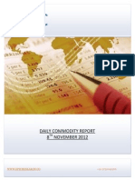 DAILY COMMODITY REPORT BY EPIC RESEARCH- 8 NOVEMBER 2012
