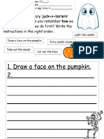 Tom's TEFL - Jack-o-Lantern Worksheet