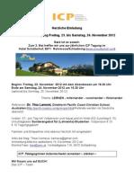 Initiative christlicher PädagogInnen Tagung November 2012