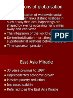 Globalization Effects on East Asia