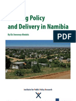 Housing Policy and Delivery in Namibia