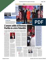 L'amaro addio di Romney - di Paolo M. Alfieri, Avvenire 08-11-12