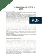 El Sistema Educativo Entre 1916 y 1943