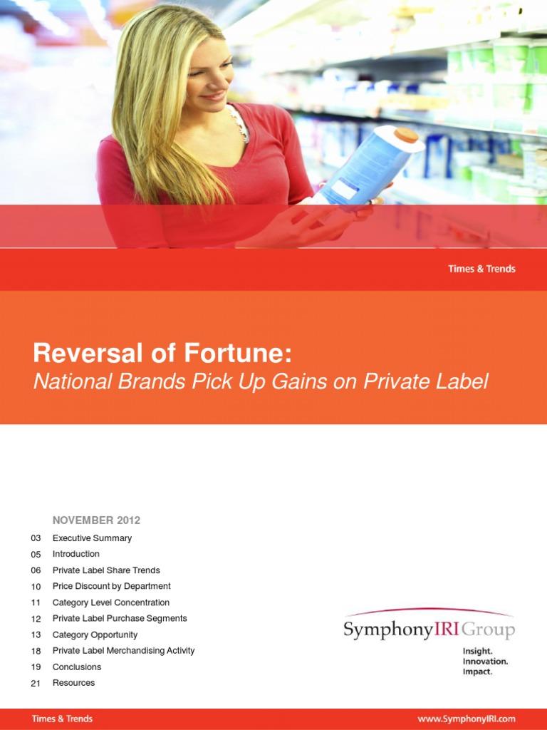 Times \u0026 Trends November 2012: Reversal of Fortune: National Brands ...
